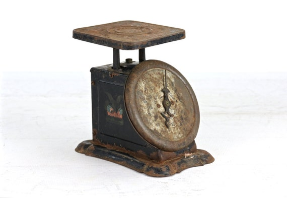 Vintage scale antique kitchen scale black scale rustic for Rustic kitchen scale