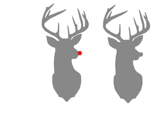 Rudolph the Red Nosed Reindeer Silhouette SVG Instant Download