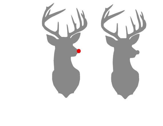 rudolph the red nosed reindeer silhouette svg instant download santa and rudolph clipart rudolph antlers clip art