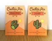 Pair of cactus pins