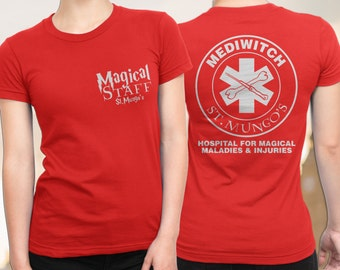 Harry Potter Shirt for women, FREE SHIPPING, Harry Potter T-Shirt, St Mungo's Hospital for Magical Maladies and Injuries, Nurse Shirt