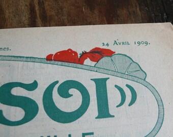 Vintage magazine, paper journal, advertisements, paper ephemera, antique, fashion, 1909,black and white,