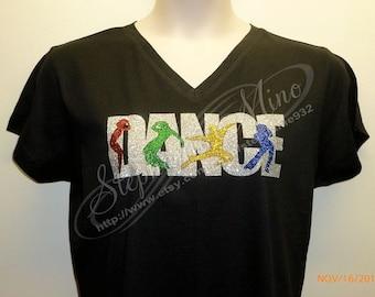 Dance Party #1 Glitter Vinyl T-shirt