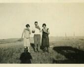 "Vintage Photo ""Watermelon Munchers"" Eating Food Snapshot Old Antique Photo Black & White Photograph Found Paper Ephemera Vernacular - 72"