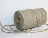 Elegant Linen Yarn - Natural Color = 1 Spool = 110 Yards = 100 Meters