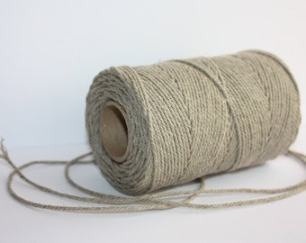 2.2 mm Elegant Linen Yarn - Natural Color = 1 Spool = 55 Yards = 50 Meters