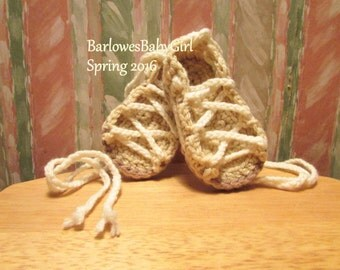 Buggs - Crochet Baby Lace Up Sandals - Customize Your Colors