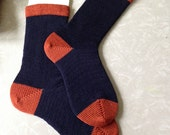Team Spirit Custom Wool Socks : School Colors Custom sized socks - You choose the colors and size!