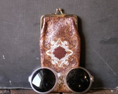 Reserved for Karen - Vintage Italian Tooled Leather Glasses Case - Boho Chic Style