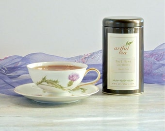 Earl Grey Lavender Black Tea • 3.5 oz. Tin • French Bergamot & Provence Lavender Loose Leaf Tea Blend