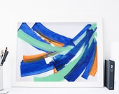 Abstract Print, Bright Home Decor, Colorful Decor, Wall Art. Abstract Art, Blue Home Decor