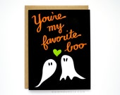 Halloween Card - You're My Favorite Boo - I Love You Card
