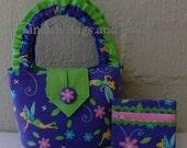 Little Girls Tinkerbell Bag and matching Coin Purse