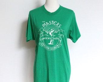 Vintage Masters Golf T Shirt // Augusta Georgia Soft Thin Tshirt  Small // 50 50 Screen Stars Tee Shirt Made in USA