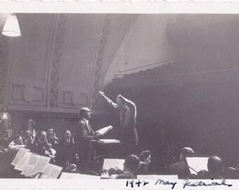 1942 May Festival- 1940s Vintage Photograph- Norman Cordon- Music Director Thor Johnson- Philadelphia Orchestra- Found Photo- Paper Ephemera
