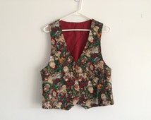 1990s ugly christmas vest / sweater party / tacky christmas / santa claus / hipster christmas / mens / womens / unisex