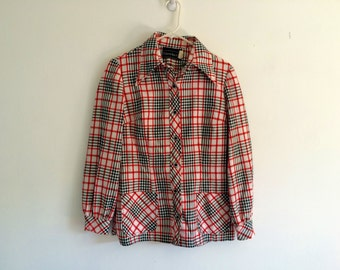 1970s plaid /checkered light weight jacket