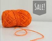 Tangerine Orange Rustic Jute Twine / string / Yarn - for crafting, kniting, crochet, gift wrap, packaging, scrapbook,