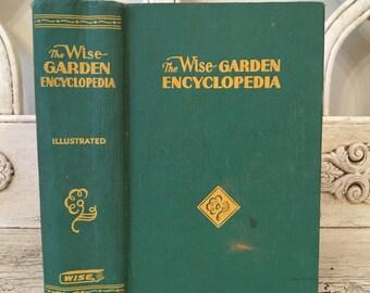 Vintage Garden Book - The Wise Garden Encyclopedia - Pretty Green Gift Book