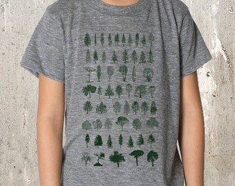 Kid's T-Shirt - Tree Diagram -  TriBlend T-Shirt