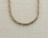 Vintage Choker Necklace Gold & Silver Roget 13-16 inch Adjustable Chunky Chain | Costume Jewelry | True Vintage | 1980s 16B