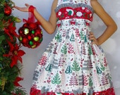 "Girls Christmas Dress "" White Tree's""  Children's 2T, 3T, 4T, 5, 6, 7, 8"
