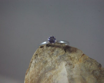 Sterling Silver Genuine Tanzanite Ring Size 5.5