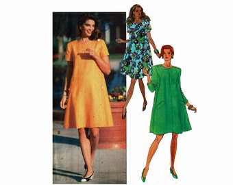 David Warren Fast & Easy Uncut Sewing Pattern Sizes 14 16 18  Bust 36 38 40 Tent Dress A Line Dress Butterick 5351