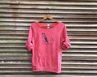 SALE Husky Shirt, Dog Sweater, Camping Shirt, Hiking Shirt, S,M,XL