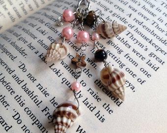Seashell Book Thong Pink Beaded Bookmark Ocean Beach Summer Reading Teacher Gift