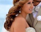 Bridal Headband, Bridal HeadPiece, Elsie, Rhinestone Headband, Wedding Headband, Bridal Hair Pieces, Bridal Headpiece, Forehead Headband