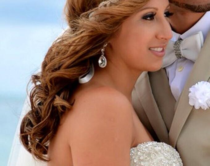 Teardrop Bridal Headpiece, Elsie, Rhinestone Headband, Wedding Headband, Bridal Hair Pieces, Bridal Headpiece, Forehead Headband