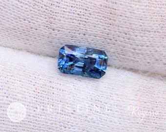 Blue Sapphire Modified Radiant Cut September Birthstone Natural Gemstone