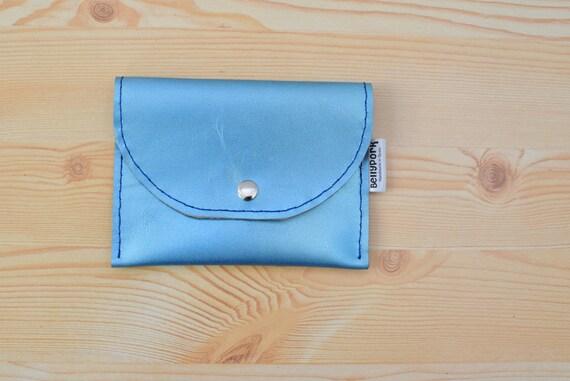 Coin purse,leather coin purse,blue coin purse,leather pouch,leather purse,pocket purse,mens coin purse,men coin purse,small coin purse