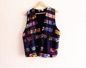 Sale Vintage Patchwork Boho Vest