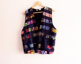 Vintage Patchwork Boho Vest