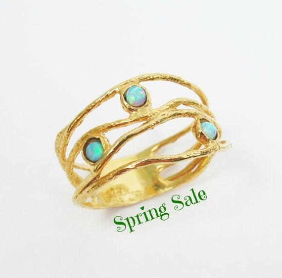 opal gold ring 14k yellow gold opal ring gift for by