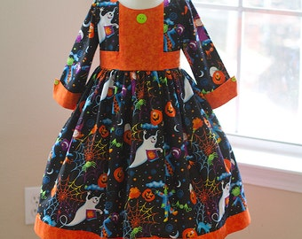 Too Cute to be Scary Halloween dress--Ready to ship one of each size 4,5,6