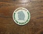 Boynton Illustrated  Chocolate Makes The World Go Round Enamel Button/Pin