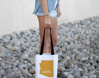 Arizona State Tote Bag // Bridesmaid Gift Idea // College University Student // Moving Gift // Free US shipping