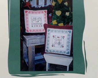 Cross Stitch Pattern GOOD YULE Christmas Pillows By Shepherd's Bush