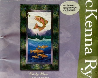 McKenna Ryan Pine Needles EARLY RISER BLOCK From Calling Me Home Quilt Quilting Quilter Pattern Template