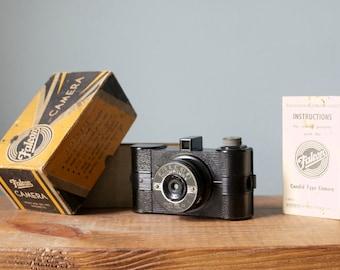 Vintage 1930s Falcon Miniature Bakelite Camera by Utility MFG Co. New York, Original Box & Manual