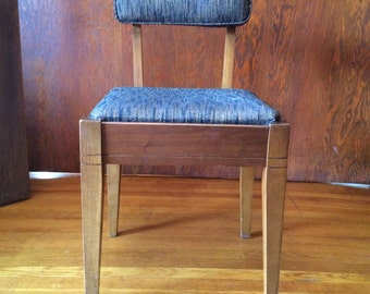 Mid century modern chair with original fabric - - LA PICK UP only
