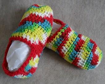 Multi-color Crochet Slipper House-shoes No Slip Bottom