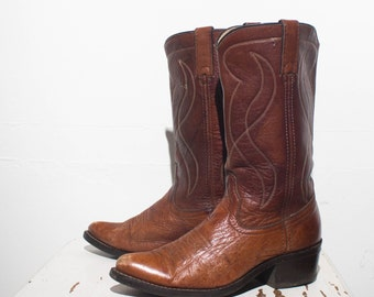 8.5 D | Men's Stovepipe TEXAS Boot Co. Brown Western Boots