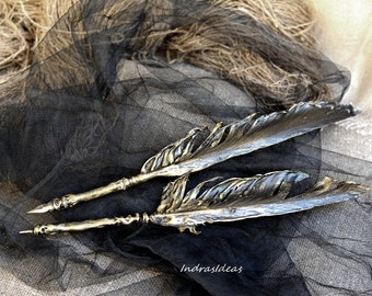 Black Feather pen, Feather ballpoint pen, Black Quill Dip Pen, Harry potter Quill Pen,calligraphy, Gift Ideas For Him, gift for writer