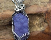 Very Rare Oregon Holley Blue Boitryoidal Agate Pendant Necklace.....hand made in the USA