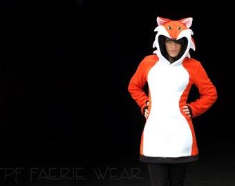 FOX Fleece 'Arabelle' mini-dress/hoodie