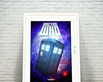 Doctor Who's TARDIS Time Vortex Dr. Who's Fine Art Print / Geekery Poster that any Whovian would Love